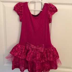 Fuchsia rose tulle dress Dolls and Divas Couture